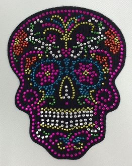 Candy Skull Patch Pink