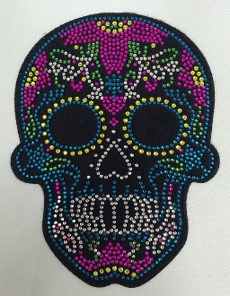 Candy Skull Patch Turquoise