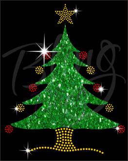 Rhinestones/Glitter Christmas Tree