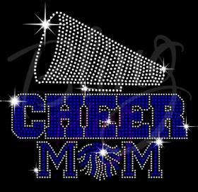Cheer Mom Megaphone-Blue