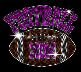 Football Mom Groovy Pink