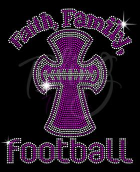 Faith Family Football Pink