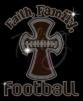 Faith Family Football Brown