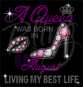 A Queen Was Born In November Rhinestone Transfer Bling Hot Fix Iron On
