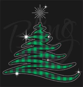 Christmas Tree Plaid With Printed Vinyl